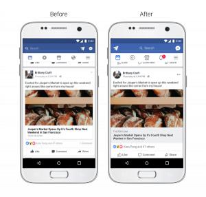 تحسين قابلية القراءة على تطبيق فيسبوك